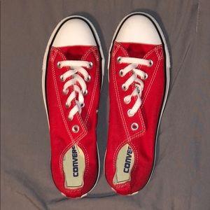 Red converse chucks